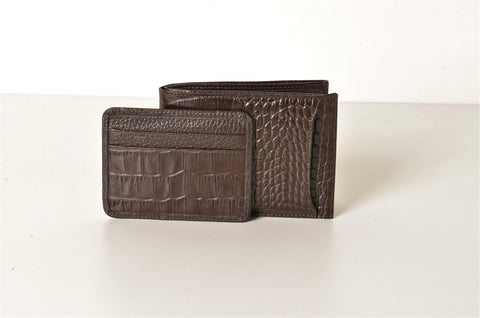 BOND 566-355 LEATHER WALLET BROWN