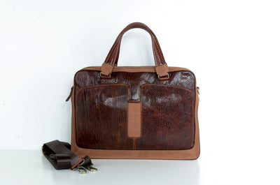 BELLUCCI 5059 LEATHER BAG TAN