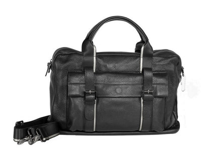 BOND SOFT LEATHER TRAVEL BAG BLACK