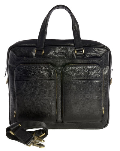 Bellucci Black Leather Briefcase