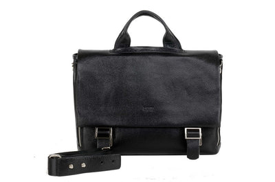 BOND 133 LEATHER BAG BLACK