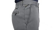 Ecer Recina Stretch Cotton Chino GREY