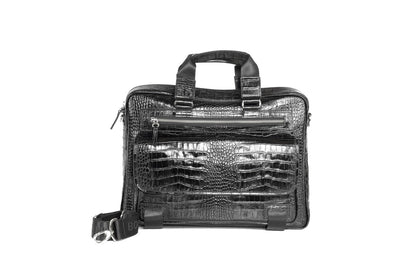 BOND PRINTED LEATHER BAG BLACK