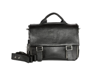 BOND 1382 LEATHER BAG BLACK