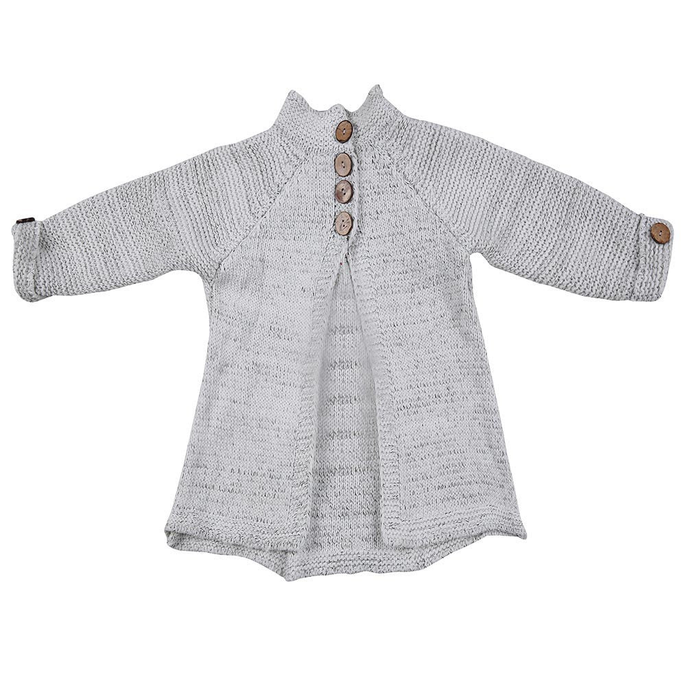 8fba9f77fe60 Girls Sweater Toddler Kids Baby Girls Outfit Clothes Button Knitted ...