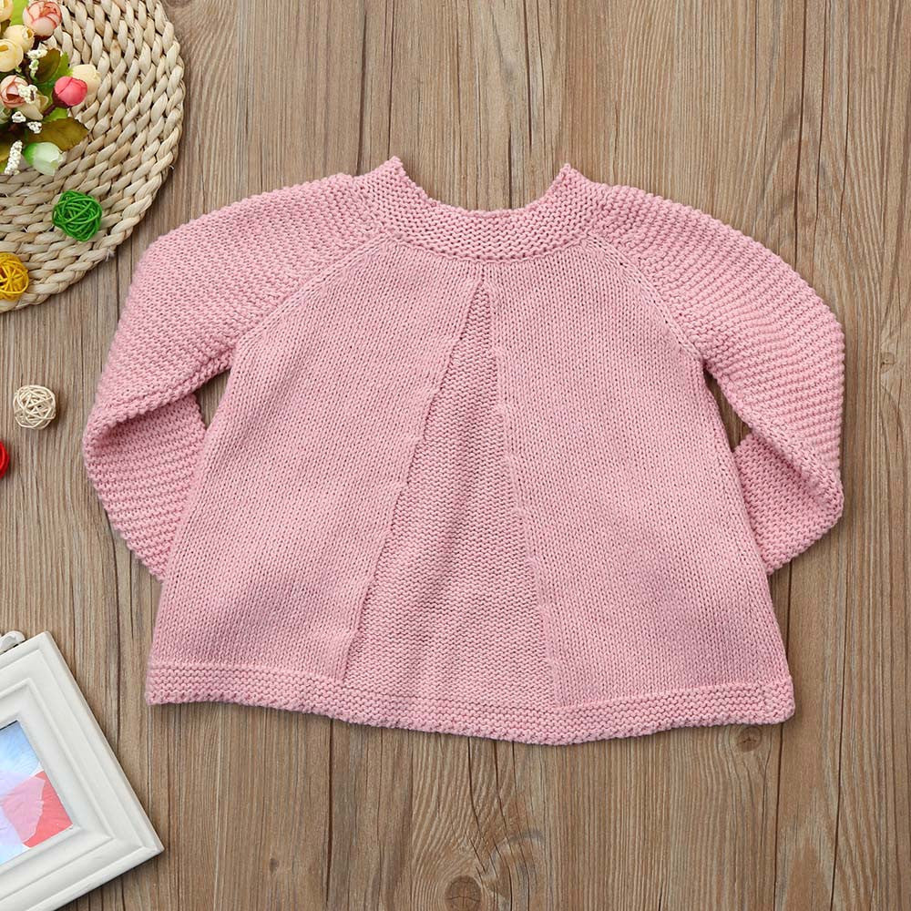 1e3c8df12 Toddler Kids Baby Girls Outfit Clothes Button Knitted Sweater ...