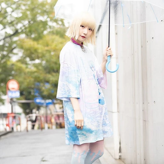 ACDC RAG and Evangelion Rei Ayanami t-shirt dress