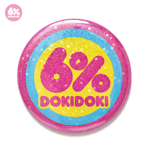 6% DOKIDOKI glitter star logo badge
