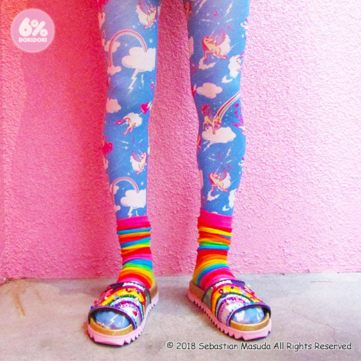 "6% DOKIDOKI ""Welcome to 6% world"" tights"