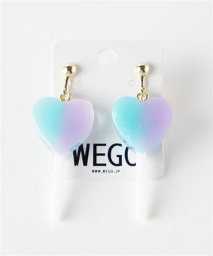 WEGO mini lollipop heart earrings