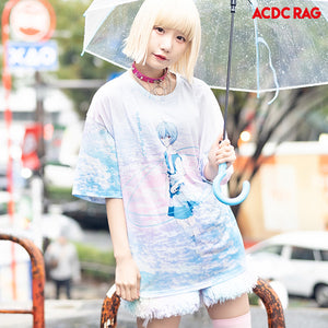 ACDC RAG and Evangelion Rei Ayanami t-shirt