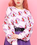 W❤️C Strawberry milk sweatshirt