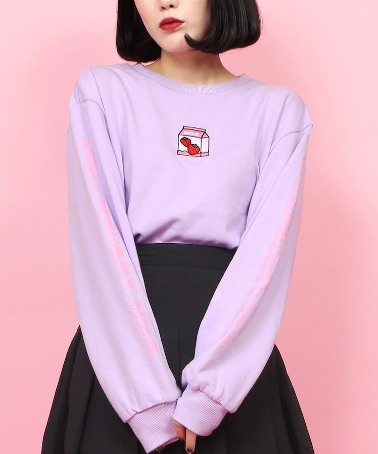W❤️C strawberry milk pastel sweatshirt