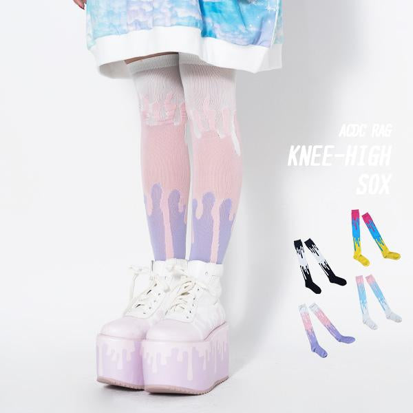 ACDC RAG fairy kei dripping paint socks