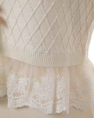 Liz Lisa Hem Lace Ribbon Cardigan