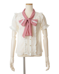 Liz Lisa stripe ribbon blouse