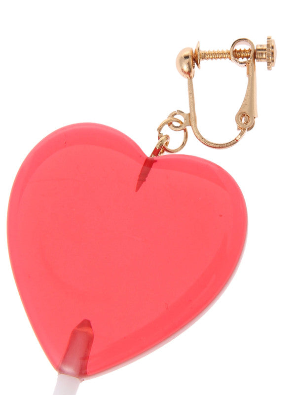W❤️C lollipop heart earrings
