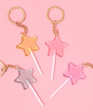 W❤️C lollipop star keyring