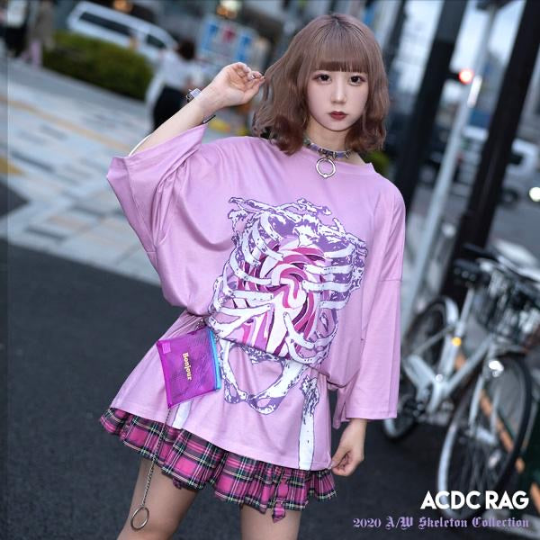 ACDC RAG lollipop skeleton t-shirt dress