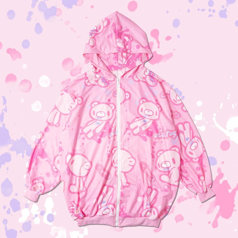 ACDC RAG and Gloomy Bear pastel hoodie