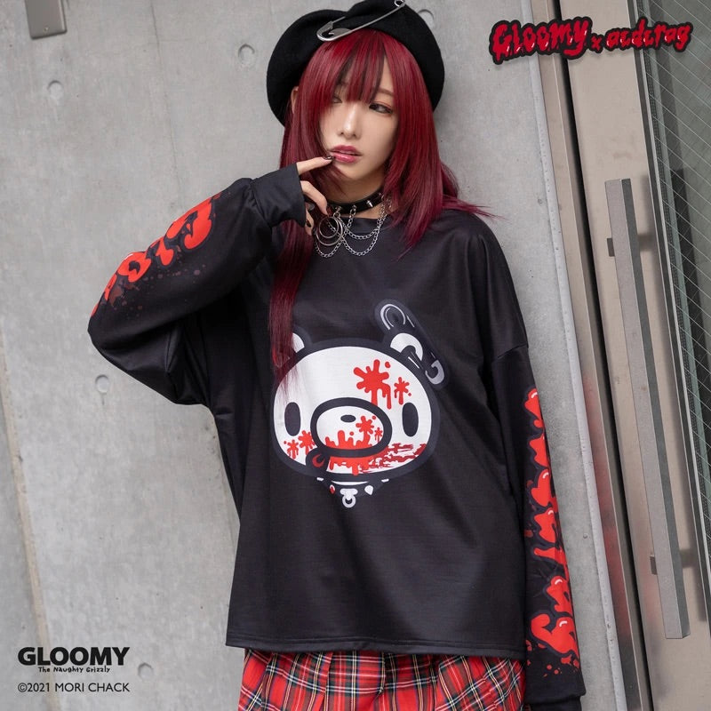 ACDC RAG and Gloomy Bear long sleeve dark t-shirt