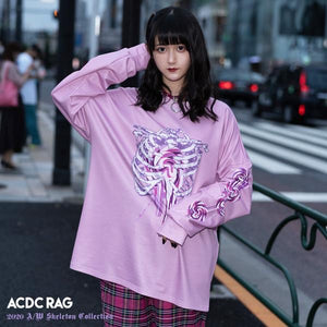 ACDC RAG lollipop skeleton long sleeve t-shirt