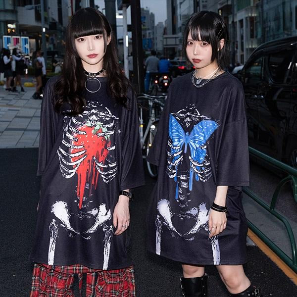 ACDC RAG butterfly skeleton t-shirt dress