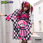 ACDC RAG and Gloomy Bear checkered t-shirt