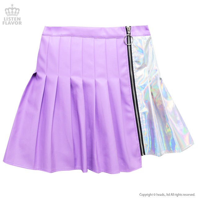 Listen Flavor two tone faux leather skirt