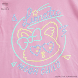 Listen Flavor lunatic neon cat t-shirt