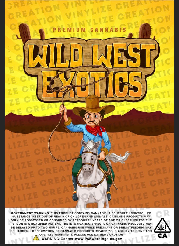 Custom Mylar Bag - Wild West Exotics