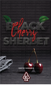 Custom Mylar Bag - Black Cherry Sherbet