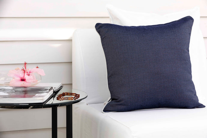 'Navy Portofino' Cushion