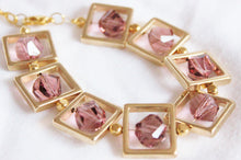 Load image into Gallery viewer, Square gold frame bracelet