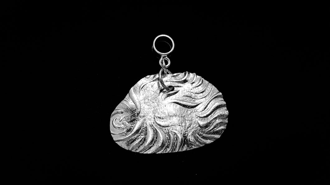 Textured Cloud .999 fine silver pendant