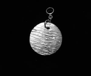 Dark of the Moon .999 fine silver pendant