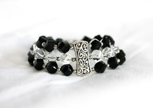 Light and dark crystal bracelet
