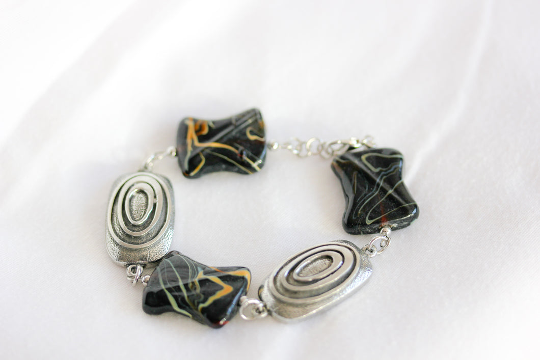 Black ceramic twist bracelet