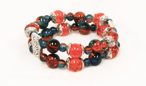 Crackle glass bracelets