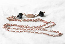 "Load image into Gallery viewer, Rose gold ""Y"" necklace"