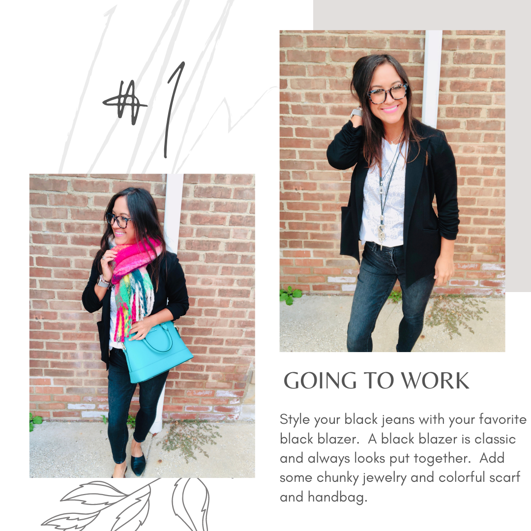 work attire - black jeans - work clothes for women - fall must haves
