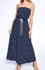 Women's Tube Dress Strapless Dress for Women Navy Dress Maxi Dress
