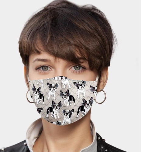 Bulldog Print Face Mask - alliemdesignsboutique