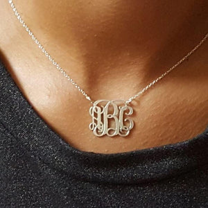 Mini Vine Monogram Necklace 1 - alliemdesignsboutique