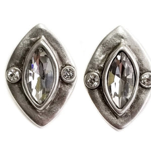 Pewter Marquis Shaped Earrings - alliemdesignsboutique