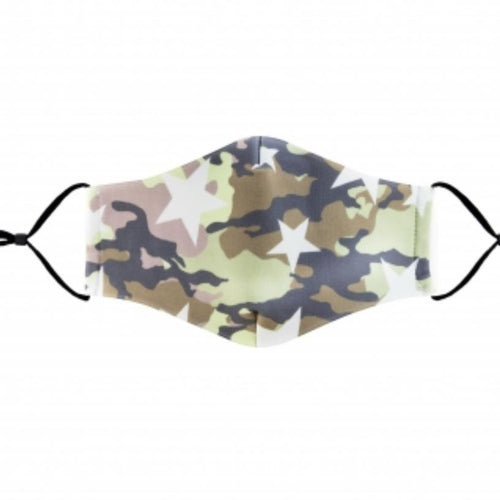 Camo Stars Face Mask with Filter Slot - alliemdesignsboutique