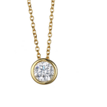 Load image into Gallery viewer, Allison Stainless Steel  CZ Stone Necklace - alliemdesignsboutique