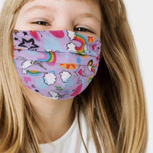 Load image into Gallery viewer, KIDS Unicorn Face Mask - alliemdesignsboutique