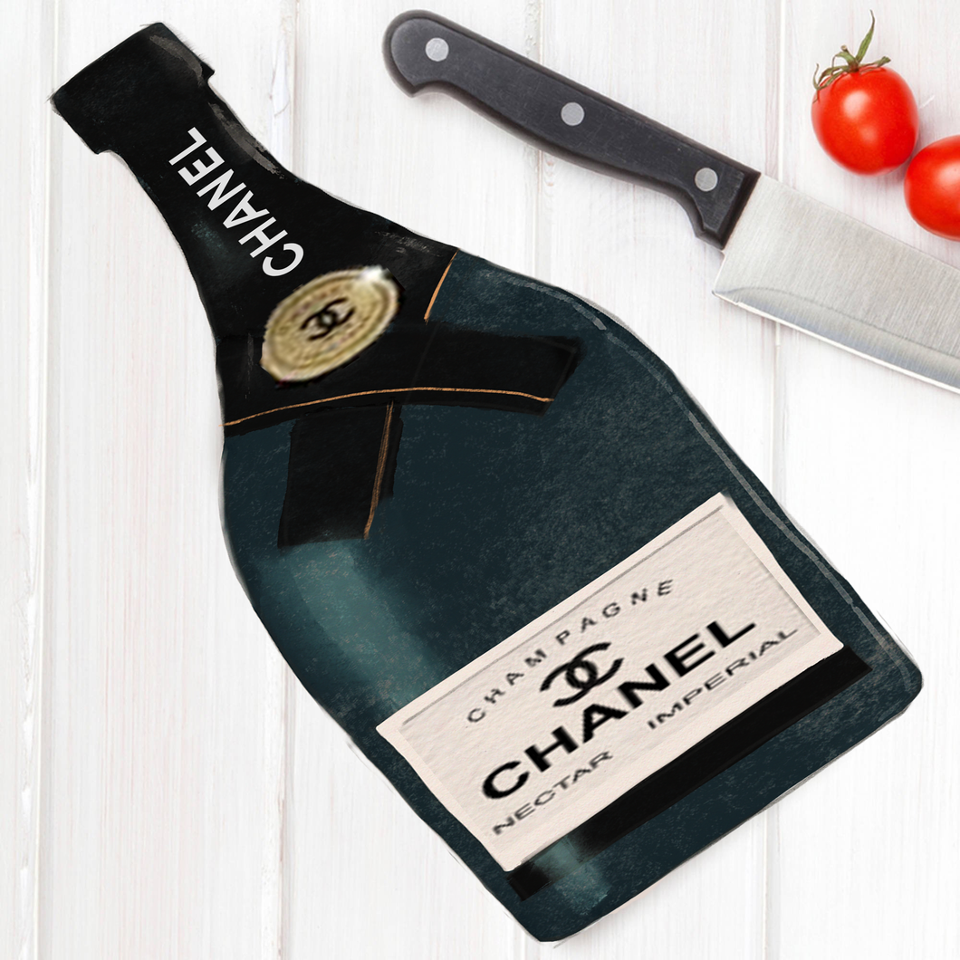 Cutting Board-Wall Art Chanel Champagne - alliemdesignsboutique