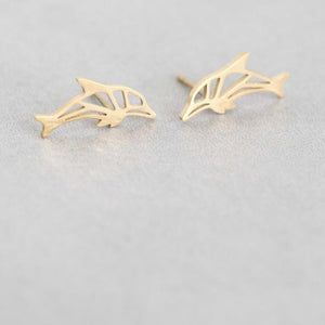 Dolphin Stud Earrings - alliemdesignsboutique